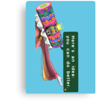 "King of all Cosmos ""Here's an idea: You can do better."" Katamari Canvas Print"
