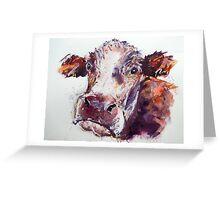 Gloomy Cow Greeting Card