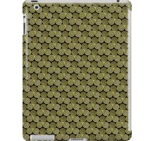 Triple Spiral Gold Black Moss Pattern iPad Case/Skin