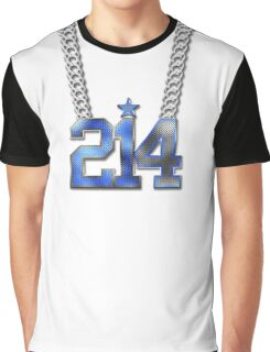 214 Bling On A Chain (Blue 21/White 4) Graphic T-Shirt