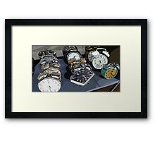 Alarm Clocks Framed Print