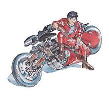 Akira by Katsuhiro Otomo Watercolor Tribute to Kaneda Photographic Print