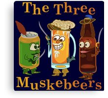 Funny Beer Pun Three Muskebeers Canvas Print