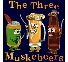 Funny Beer Pun Three Muskebeers Photographic Print