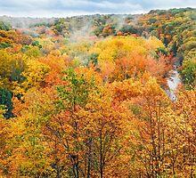 Autumn Overlook by Kenneth Keifer