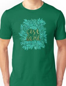 That's Life – Turquoise & Gold Unisex T-Shirt