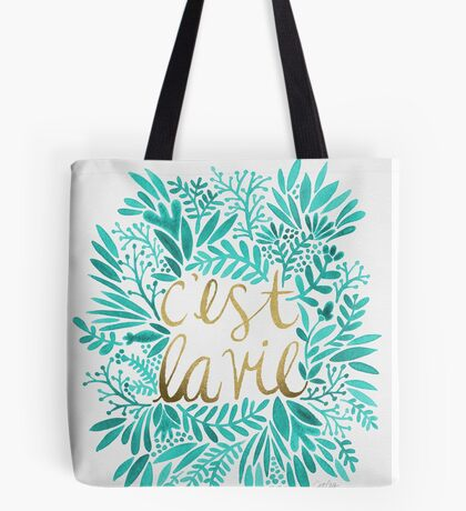 That's Life – Turquoise & Gold Tote Bag