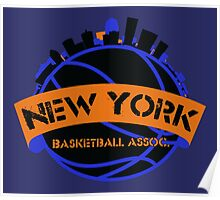 New York Basketball Association Poster