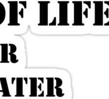 The Necessities Of Life: My Cat & Dogs - Black Text Sticker