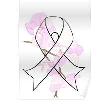 Orchid Breast Cancer Ribbon Poster