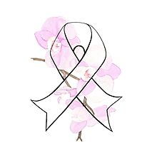 Orchid Breast Cancer Ribbon Photographic Print