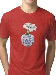 Amaryllis in Chinese Vase Tri-blend T-Shirt
