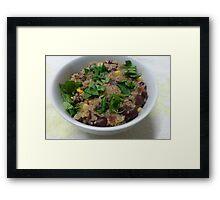 Quinoa, Beans and Corn Framed Print
