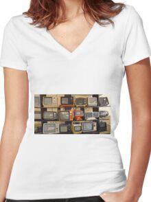 TV Women's Fitted V-Neck T-Shirt