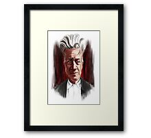 David Lynch Caricature Portrait Framed Print