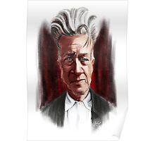 David Lynch Caricature Portrait Poster