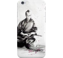 Samurai sepuku acts, japanese warrior ink painting iPhone Case/Skin