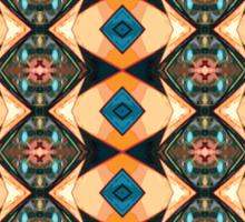 Orange And Blue Pattern Sticker