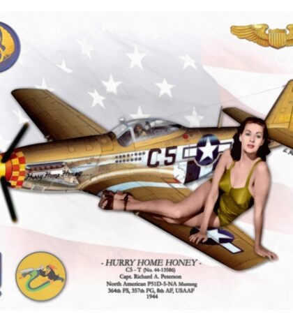 Hurry Home Honey (North American P51 Mustang) Sticker