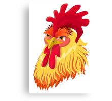 The emotional version of the character - angry cock.  Canvas Print