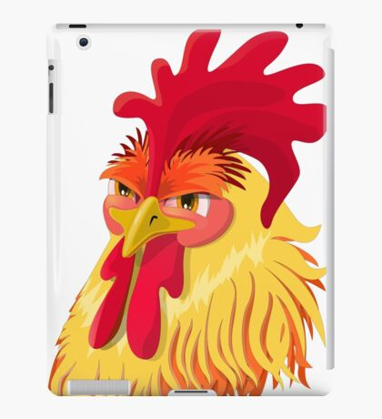 The emotional version of the character - angry cock.  iPad Case/Skin