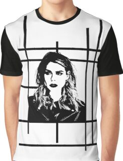 High Contrast Billie Piper with Background Design Graphic T-Shirt