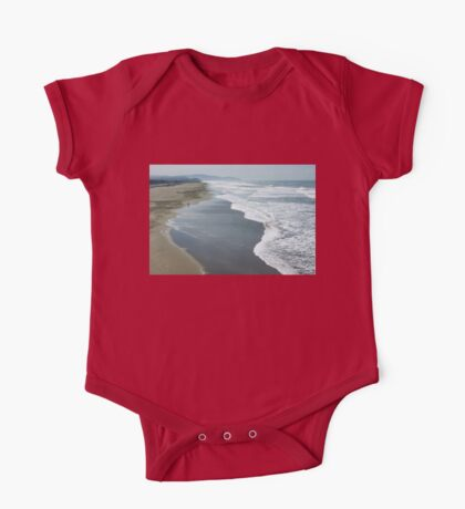 San Francisco Fog - Ocean Beach Layers, Textures and Forms One Piece - Short Sleeve