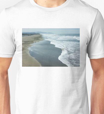 San Francisco Fog - Ocean Beach Layers, Textures and Forms Unisex T-Shirt