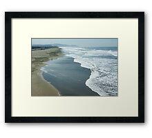 San Francisco Fog - Ocean Beach Layers, Textures and Forms Framed Print