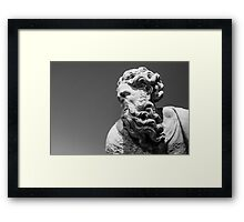 Noseless sculpture  Framed Print