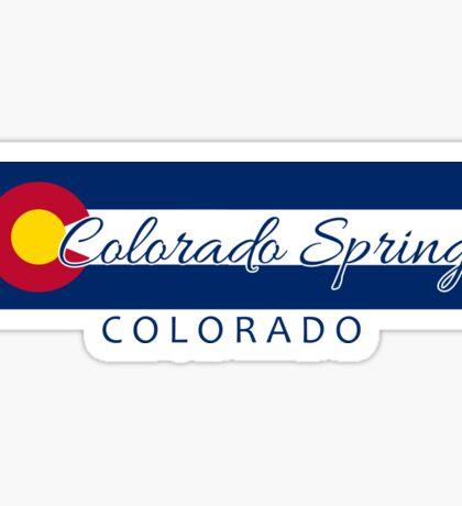 Colorado Springs Colorado flag stripe Sticker