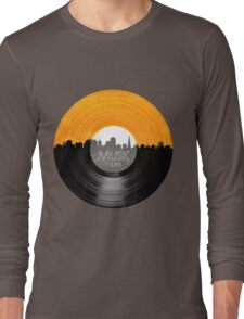 Music Is Life Record T Shirt Long Sleeve T-Shirt