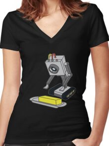 Rick & Morty Pass The Butter Women's Fitted V-Neck T-Shirt