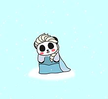 Panda Elsa Frozen Queen by jpandakuma