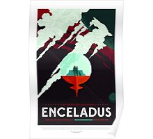 Space Toursim Enceladus Poster
