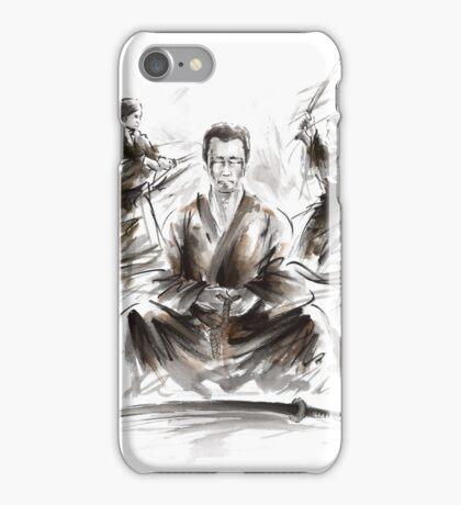 Samurai large poster, japanese warriors painting iPhone Case/Skin