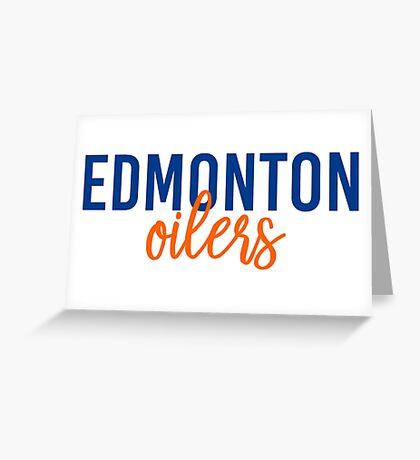 Edmonton Oilers Greeting Card