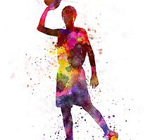 young man basketball player by paulrommer