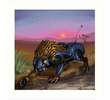 Saber Tooth Car Art Print