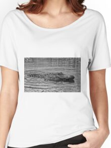 Gator In Black And White Women's Relaxed Fit T-Shirt