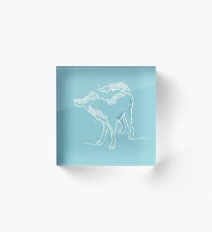 Wintery Wolf Acrylic Block