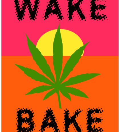Wake & Bake Marijuana Sticker