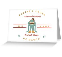 Artisanal Fishmongers (Esoteric Order of Dagon) Greeting Card