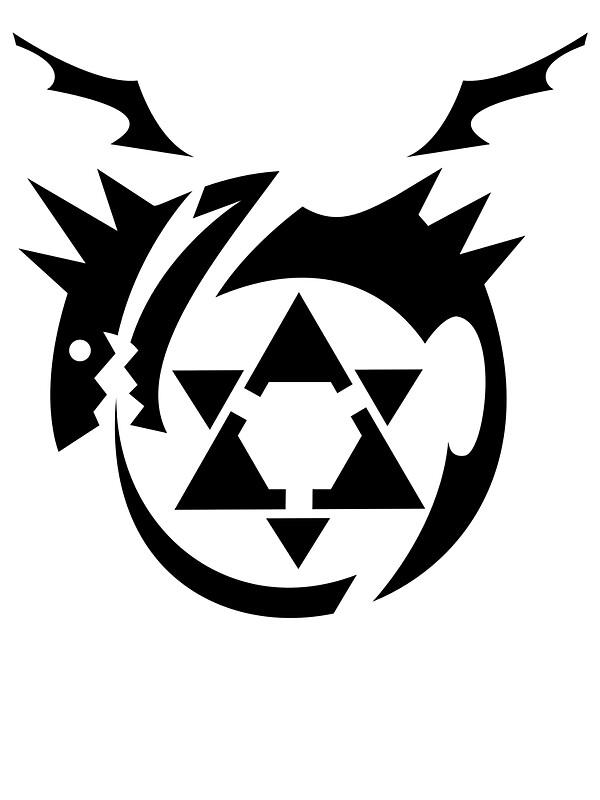 black homunculus symbol fullmetal alchemist stickers by leetzero redbubble. Black Bedroom Furniture Sets. Home Design Ideas