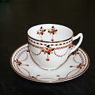 Vintage tea cup and saucer by Maggie Hegarty