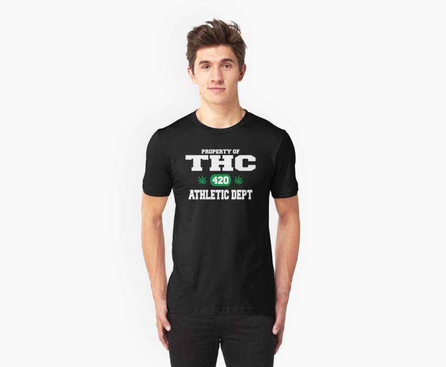 Cannabis THC Athletic Dept by MarijuanaTshirt