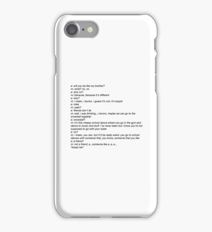 Stranger Things Mike and Eleven iPhone Case/Skin