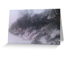 Into The Snowy Countryside Greeting Card