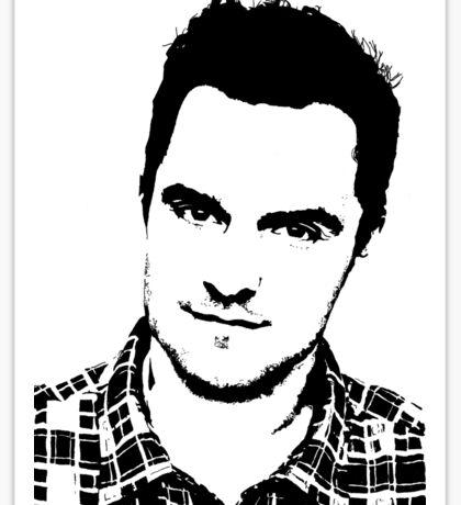 High Contrast Jake Johnson Sticker