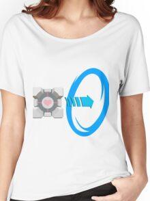 Blue portal love Women's Relaxed Fit T-Shirt